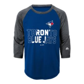 Toronto Blue Jays Kids' Box Seats Raglan 3/4 Length T Shirt