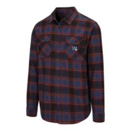 Fox Men's Traildust Long Sleeve Flannel  Shirt - Midnight Blue