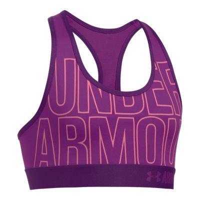 Under Armour Girls' HeatGear® Armour Graphic Sports Bra