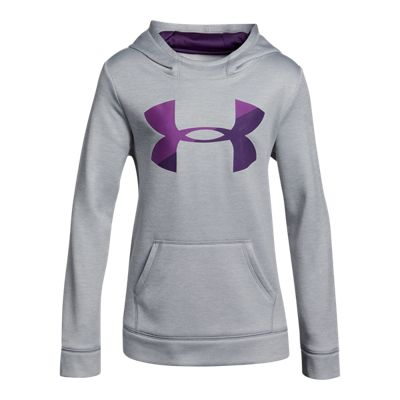 Under Armour Girls' Armour® Fleece Novelty Big Logo Hoodie