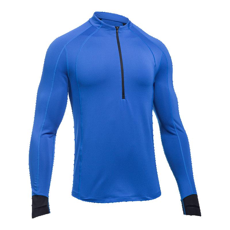 36d31d01 Under Armour Men's ColdGear Reactor 1/2 Zip Long Sleeve Running Shirt