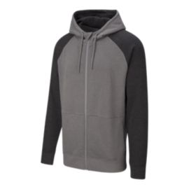 Firefly Men's McGraw Raglan Full Zip Hoodie - Typhoon Grey