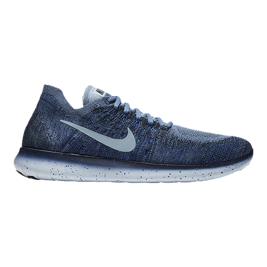 2cd24b604518 Nike Men s Free RN Flyknit 2017 Running Shoes - Blue Fog Navy ...
