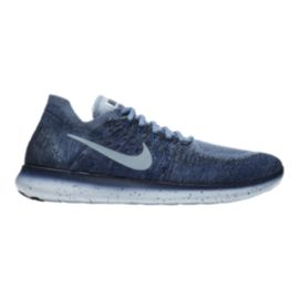 Nike Men's Free RN Flyknit 2017 Running Shoes - Blue Fog/Navy
