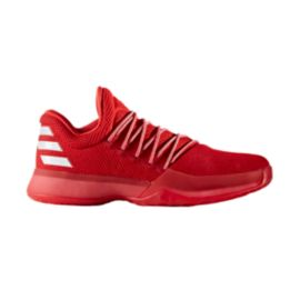 "adidas Men's Harden Vol. 1 ""Triple Red"" Basketball Shoes - Red"