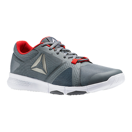 4867500a07e4 Reebok Men s TrainFlex Lite Training Shoes - Grey Alloy White Red ...