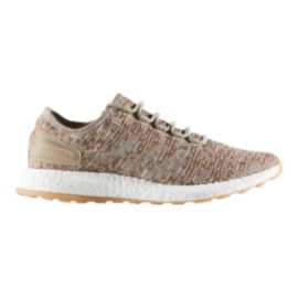 adidas Men's Pure Boost Running Shoes - Khaki/White