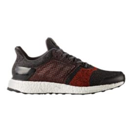 adidas Men's Ultra Boost ST Running Shoes - Black/Orange/White