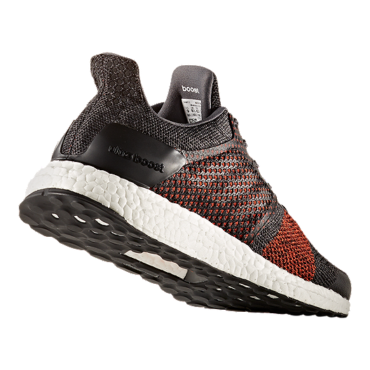 82795757a44 adidas Men s Ultra Boost ST Running Shoes - Black Orange White. (1). View  Description