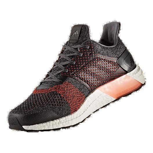 a8e5186e9f6 adidas Men s Ultra Boost ST Running Shoes - Black Orange White ...