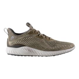 adidas Men's Alpha Bounce EM Running Shoes - Olive/Grey