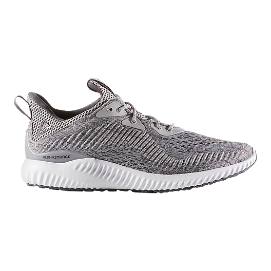 4c85c253d adidas Men s Alpha Bounce EM Running Shoes - Knit Grey White