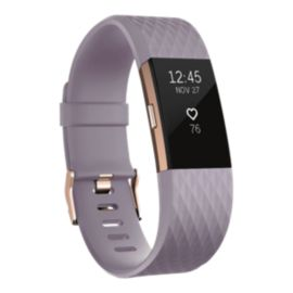 Fitbit Charge 2 Fitness Tracker - Lavender/Rose Gold Large