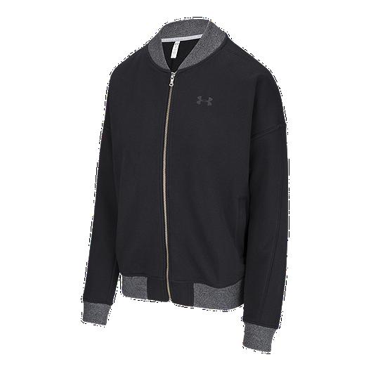 e755968e59c Under Armour Women's Threadborne Fleece Bomber Jacket   Sport Chek