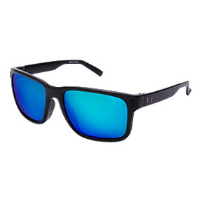 Under Armour Assist Sunglasses - Black with Gray/Blue Multiflection Lenses