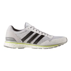 adidas Men's Adizero Adios Running Shoes - White/Grey/Solar Yellow