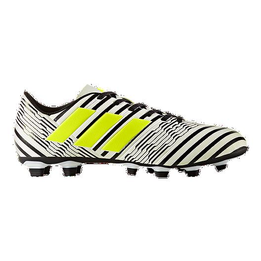 589f6a1f89d5 adidas Men s Nemeziz 17.4 FG Outdoor Soccer Cleats - White Yellow Black