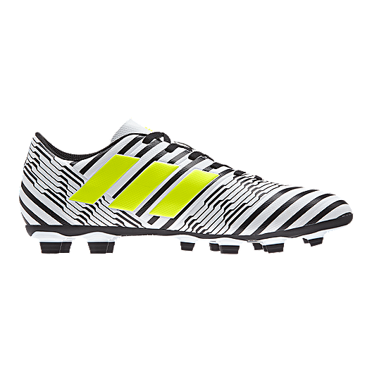 64241b2b4 adidas Men's Nemeziz 17.4 FG Outdoor Soccer Cleats - White/Yellow/Black.  (1). View Description