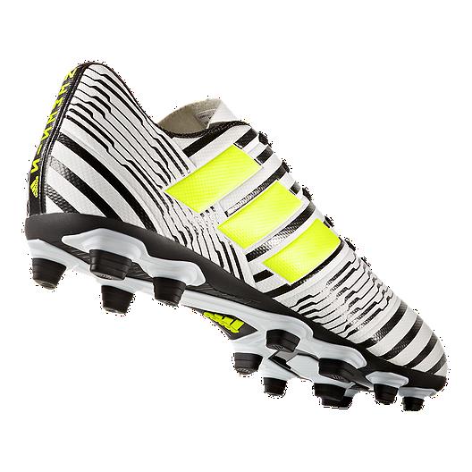 3e08ca8e1eb2 adidas Men s Nemeziz 17.4 FG Outdoor Soccer Cleats - White Yellow Black.  (1). View Description