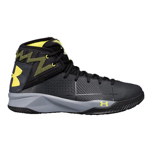 105f5e47d06 Under Armour Men s Rocket 2 Basketball Shoes - Black Yellow -  ANTHRACITE BLACK