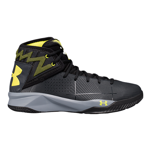 official photos 5746b ba5c8 Under Armour Men's Rocket 2 Basketball Shoes - Black/Yellow ...