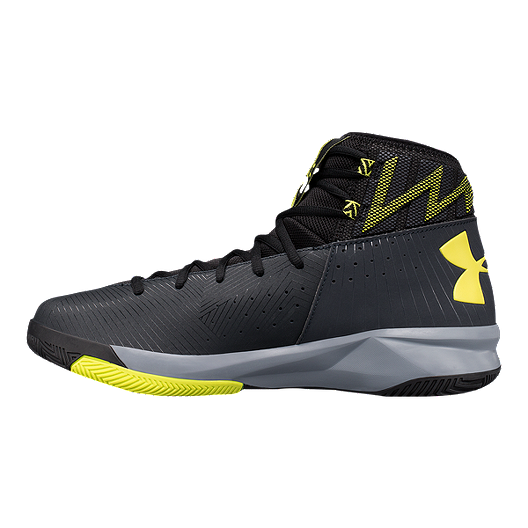 55b253010a01 Under Armour Men s Rocket 2 Basketball Shoes - Black Yellow