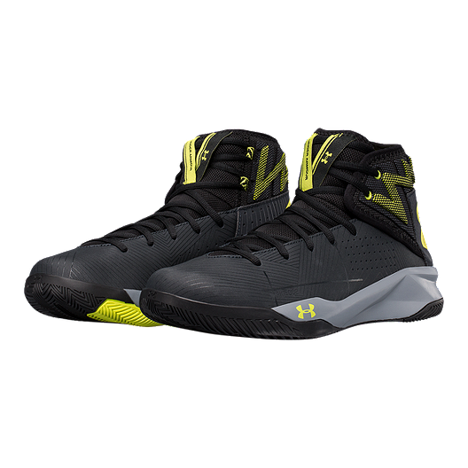 official photos e3fd7 cfdcd Under Armour Men's Rocket 2 Basketball Shoes - Black/Yellow ...