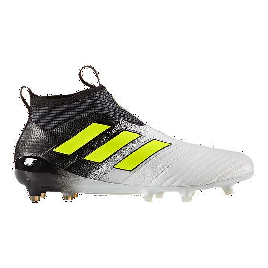 size 40 e50e8 f1b79 adidas Men's Ace 17+ Pure Control FG Outdoor Soccer Cleats -  White/Yellow/Black