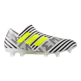 adidas Men's Nemeziz 17+ 360 Agility FG Outdoor Soccer Cleats - White/Yellow/Black