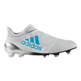 adidas Men's X 17+ 360 Speed FG Outdoor Soccer Cleats - White/Blue/Grey