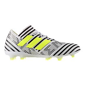 6fdd7a45358 adidas Men s Nemeziz 17.1 FG Outdoor Soccer Cleats - White Yellow Black