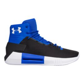 Under Armour Men's Drive 4 TB Basketball Shoes - Royal Blue/Black