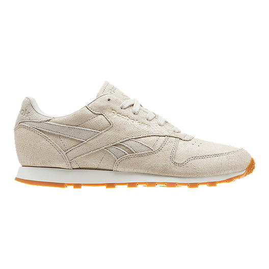 a539732436 Reebok Women s Classic Leather Clean Exotics Shoes - Chalk Sand ...