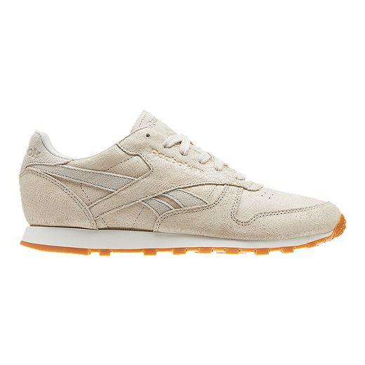 rojo Departamento dolor de cabeza  Reebok Women's Classic Leather Clean Exotics Shoes - Chalk/Sand | Sport Chek