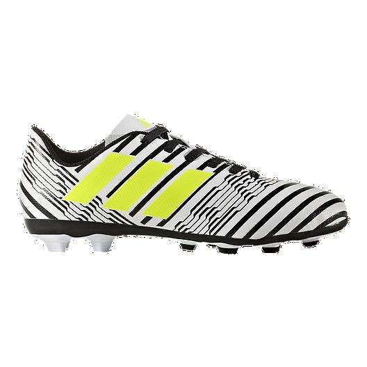 7d2671933df0 adidas Kids  Nemeziz 17.4 FG Soccer Cleats - White Yellow Black ...