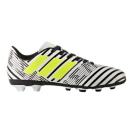 adidas Kids' Nemeziz 17.4 FG Soccer Cleats - White/Yellow/Black