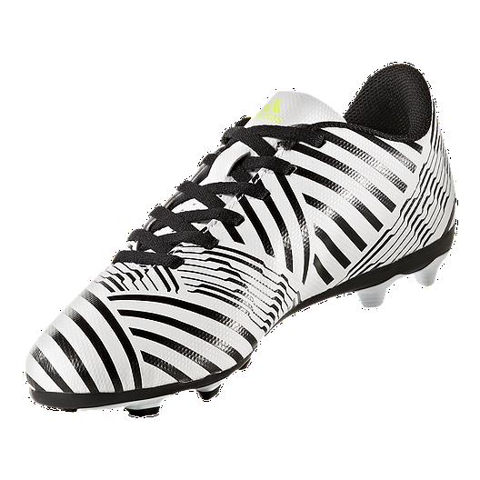 eb373809c8f8 adidas Kids  Nemeziz 17.4 FG Soccer Cleats - White Yellow Black. (1). View  Description
