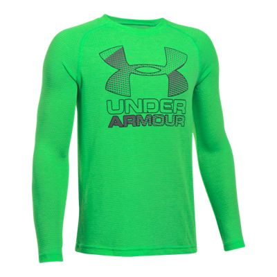 Under Armour Boys' Hybrid Big Logo Long Sleeve Shirt