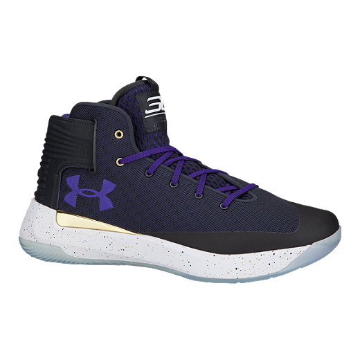 official photos b8e4b 22a8a Under Armour Men s Curry 3Zero Basketball Shoes - Black Navy Purple -  ANTRICITE