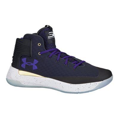 Under Armour Men's Curry 3Zero Basketball Shoes - Black/Navy/Purple