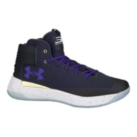 Under Armour Men's Curry 3Zero Basketball Shoes - Black/Navy/Purple