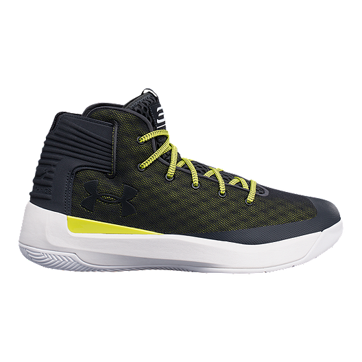best service dd214 1f69b Under Armour Men s Curry 3Zero Basketball Shoes - Olive Green Dark  Grey Yellow   Sport Chek