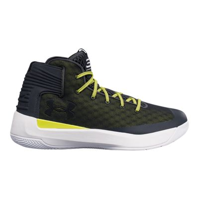 Under Armour Men's Curry 3Zero Basketball Shoes - Olive Green/Dark Grey/Yellow