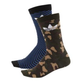 adidas Originals Men's Thin Mismatch Crew Socks