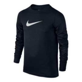 Nike Boys' Dry Studio Swoosh Long Sleeve Shirt