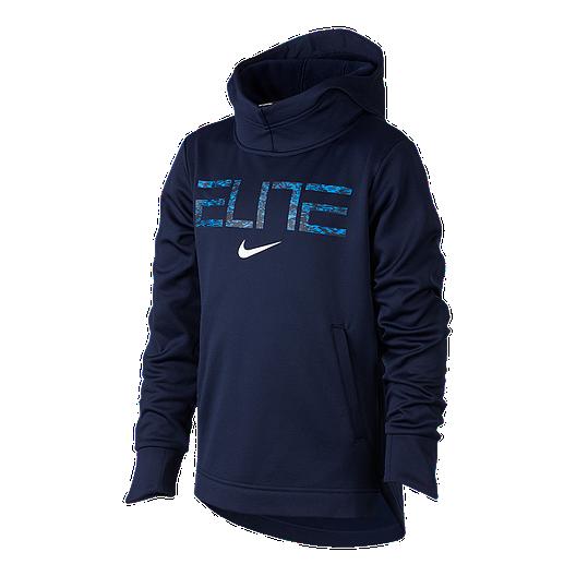 e45d6fe6dfe1 Nike Boys  Elite Thermal Pullover Hoodie