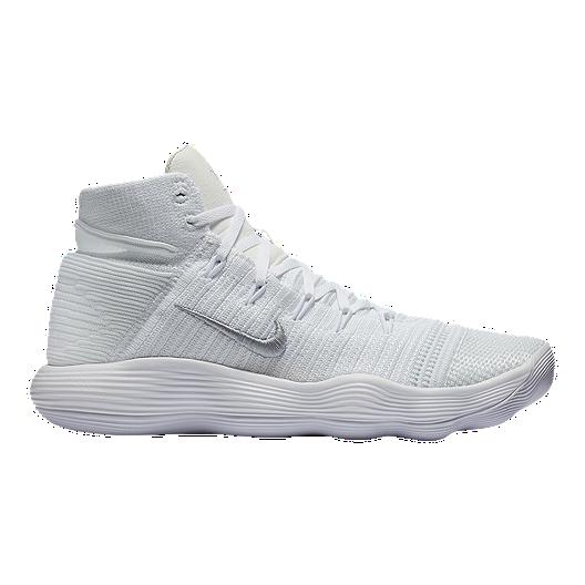 636a4ed15ffd Nike Men s Hyperdunk 2017 Flyknit Basketball Shoes - White Silver ...