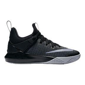 Nike Women s Zoom Shift Basketball Shoes - Black Grey 1c45b1421e