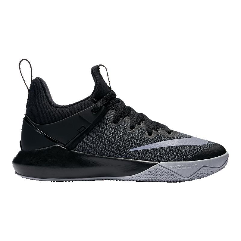 148c4fb72c6a2 Nike Women s Zoom Shift Basketball Shoes - Black Grey