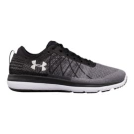 Under Armour Men's Threadborne Fortis 3 Running Shoes - Knit Grey/Black